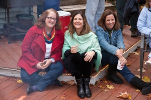 Susan, Ann, and Kathy at a Turkey Fry